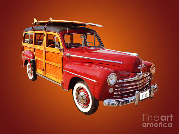 Auto Show Photograph - 1947 Woody by Jim Carrell
