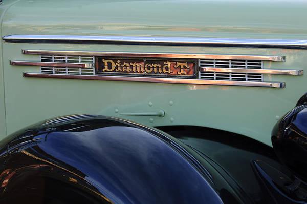 Photograph - 1948 Diamond T Truck Emblem 2 by Jill Reger