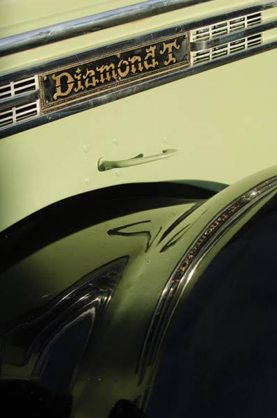 Photograph - 1948 Diamond T Truck Emblem by Jill Reger