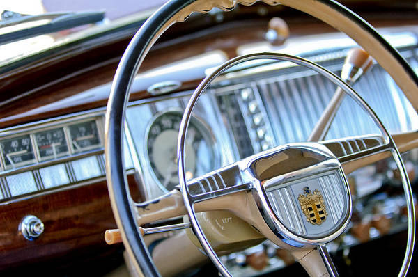 Photograph - 1948 Dodge Steering Wheel by Jill Reger