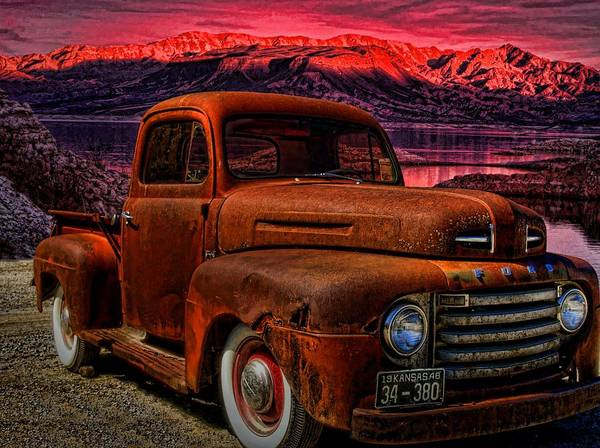 Clunker Wall Art - Photograph - 1948 Ford Pickup Truck by Tim McCullough