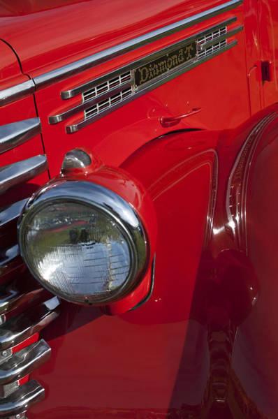 Photograph - 1949 Diamond T Truck Emblem by Jill Reger