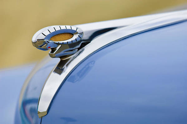 Photograph - 1949 Dodge Wayfarer Street Rod Coupe Hood Ornament by Jill Reger