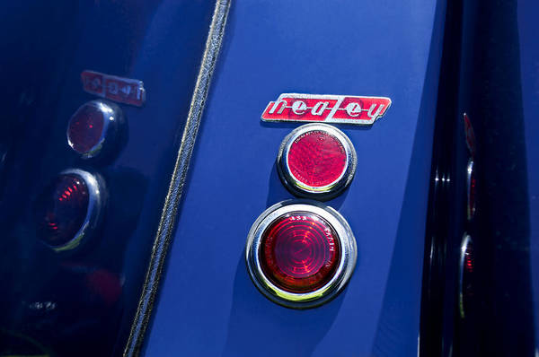 Photograph - 1949 Healey Silverstone Taillight Emblem by Jill Reger