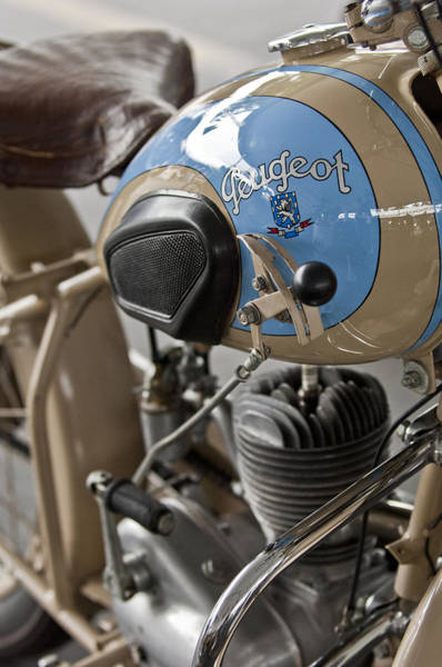 Photograph - 1949 Peugeot Gl55 Motorcycle by Jill Reger