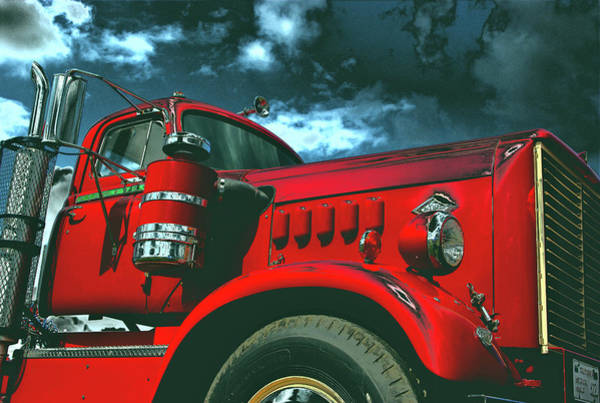 Photograph - 1950 Diamond T Semi Truck by Tim McCullough