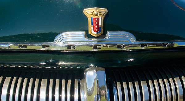 Photograph - 1950 Mercury Emblem by Mark Dodd
