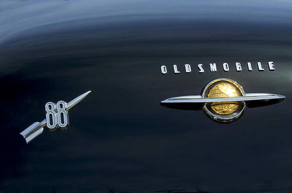Photograph - 1950 Oldsmobile 88 Emblem 2 by Jill Reger