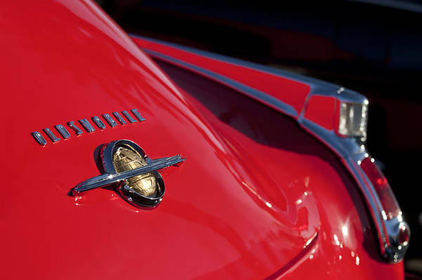 Photograph - 1950 Oldsmobile Rocket 88 Rear Emblem And Taillight by Jill Reger
