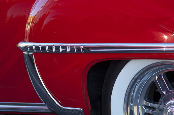 Photograph - 1950 Oldsmobile Rocket 88 Wheel by Jill Reger