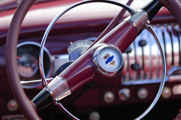 Photograph - 1951 Chevrolet Convertible Steering Wheel by Jill Reger