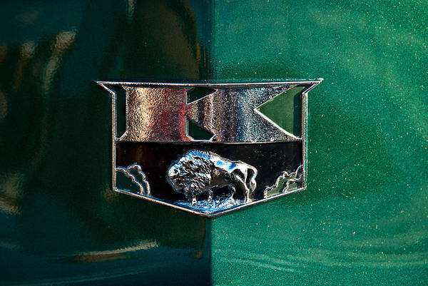 Photograph - 1951 Kaiser Deluxe Traveler Emblem by  Onyonet  Photo Studios