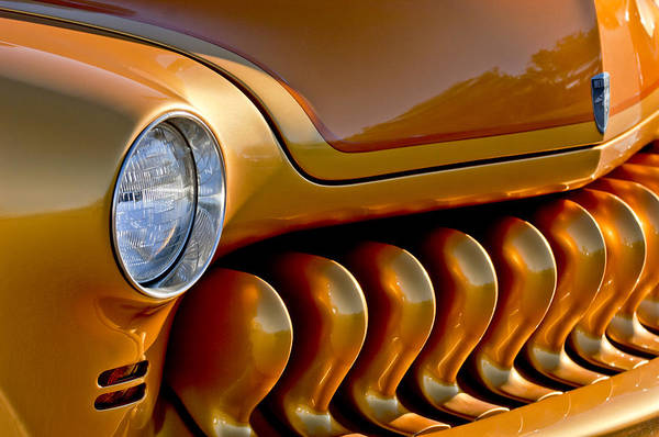 Photograph - 1951 Mercury Grille by Jill Reger