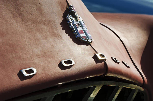 Photograph - 1952 Dodge Hood Emblem by Jill Reger