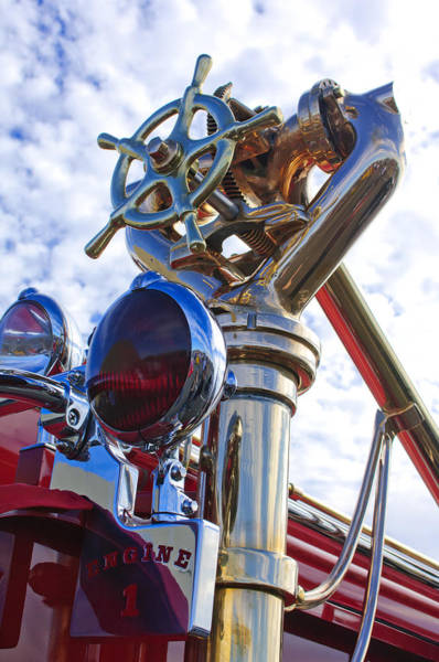 Photograph - 1952 L Model Mack Pumper Fire Truck 3 by Jill Reger