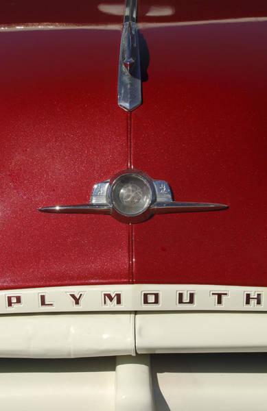 Photograph - 1952 Plymouth Hood Emblem by Jill Reger