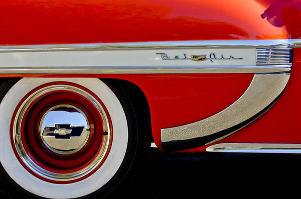 Photograph - 1953 Chevrolet Belair Wheel Emblem by Jill Reger