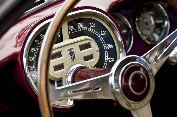 Photograph - 1953 Fiat 8v Ghia Supersonic Steering Wheel by Jill Reger