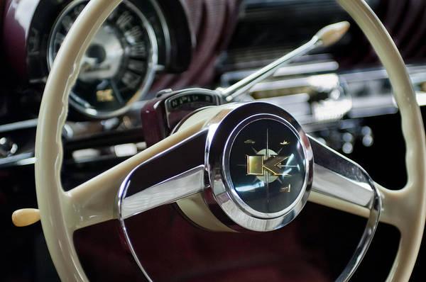 Photograph - 1953 Kaiser Golden Dragon Steering Wheel by Jill Reger
