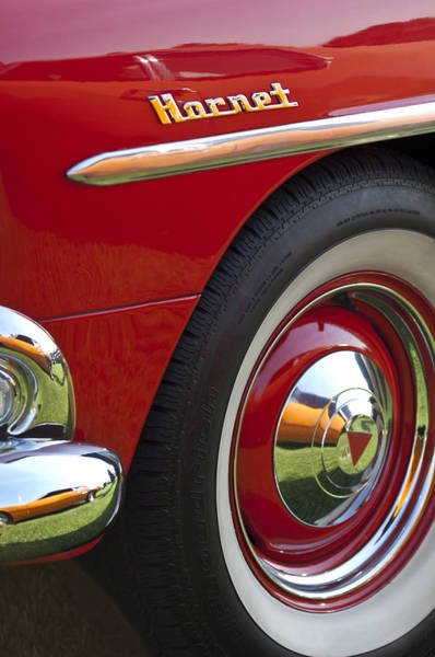 Photograph - 1954 Hudson Hornet Wheel And Emblem by Jill Reger