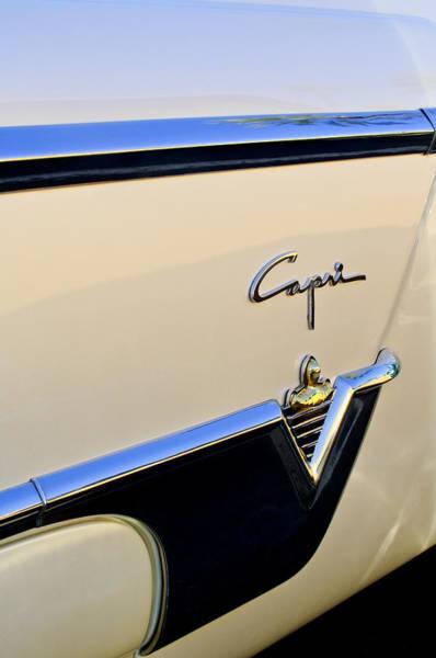 Photograph - 1954 Lincoln Capri Convertible Emblem by Jill Reger