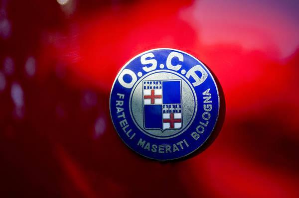 Photograph - 1954 O.s.c.a. Mt4 Maserati Emblem by Jill Reger