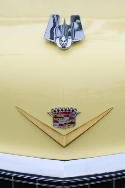Photograph - 1955 Cadillac Coupe Deville Hood Ornament Emblem by Jill Reger