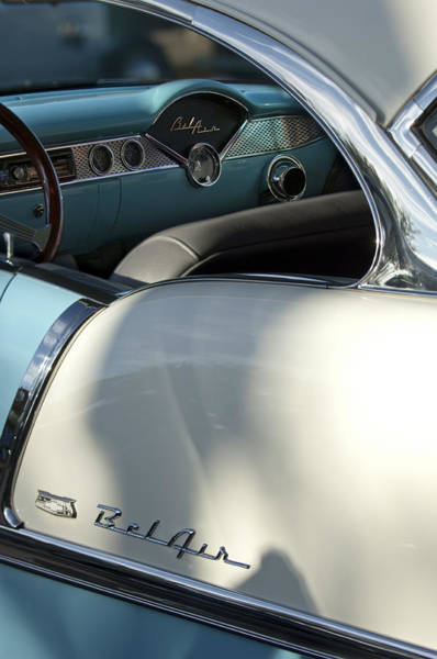 Photograph - 1955 Chevrolet Belair Dashboard 2 by Jill Reger