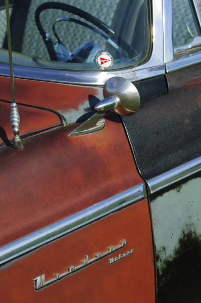Photograph - 1955 Chrysler Windsor Deluxe Emblem by Jill Reger