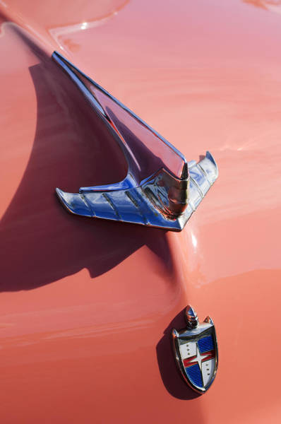 Photograph - 1955 Lincoln Hood Ornament by Jill Reger