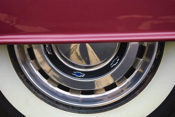1956 Chevy Wall Art - Photograph - 1956 Chevrolet Belair Wheel  by Jill Reger