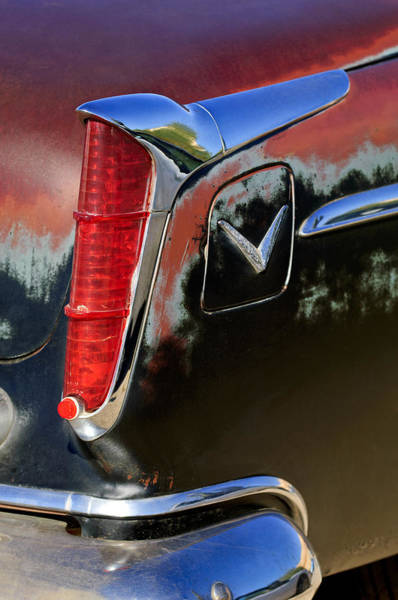 Photograph - 1956 Chrysler Windsor Taillight by Jill Reger