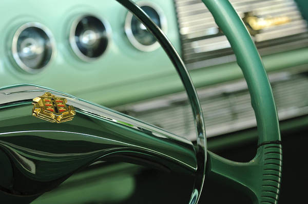 Photograph - 1956 Dodge Coronet Steering Wheel by Jill Reger