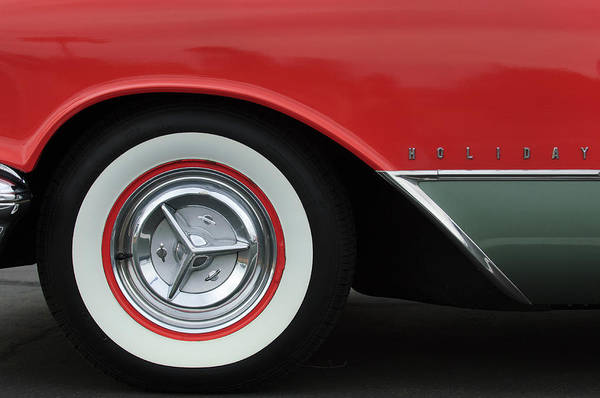 Photograph - 1956 Oldsmobile 98 Holiday Wheel by Jill Reger