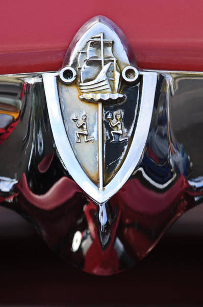 Photograph - 1956 Plymouth Emblem by Jill Reger
