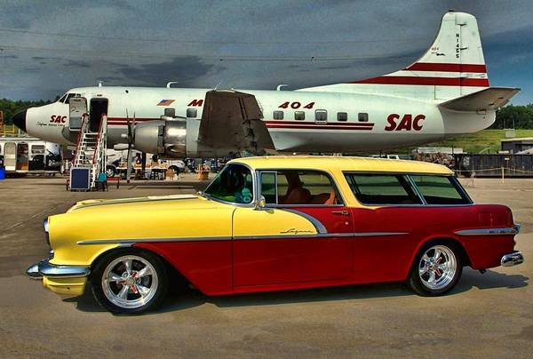 Photograph - 1956 Pontiac Safari Station Wagon by Tim McCullough