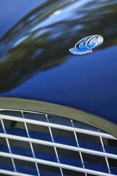 Photograph - 1957 Ac Ace Bristol Roadster Hood Emblem by Jill Reger