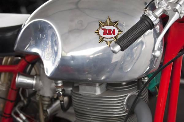 Photograph - 1957 Bsa Gold Star Daytona Racer Motorcycle by Jill Reger