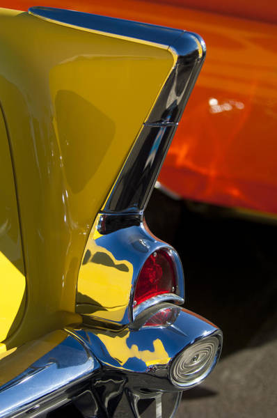 Photograph - 1957 Chevrolet Taillight by Jill Reger