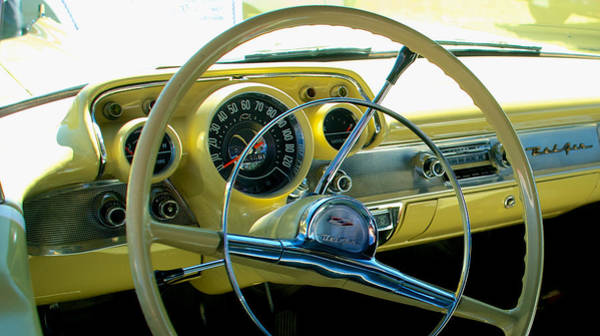 Photograph - 1957 Chevy Bel Air Dash by Mark Dodd