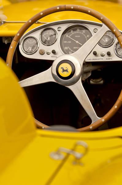 Photograph - 1957 Ferrari 500 Trc Scaglietti Spyder Steering Wheel by Jill Reger