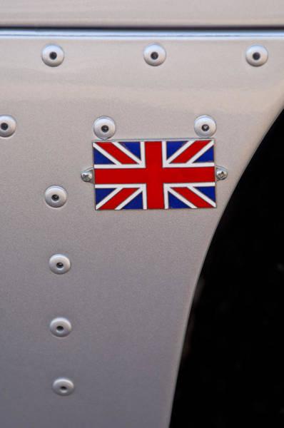 Photograph - 1957 Jaguar Xkss Roadster Recreation Emblem by Jill Reger