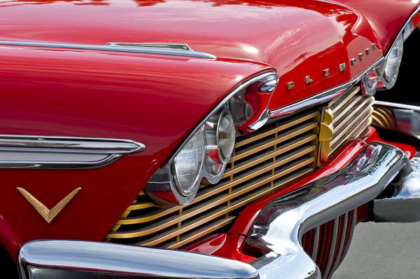 Photograph - 1957 Plymouth Belvedere Grille by Jill Reger