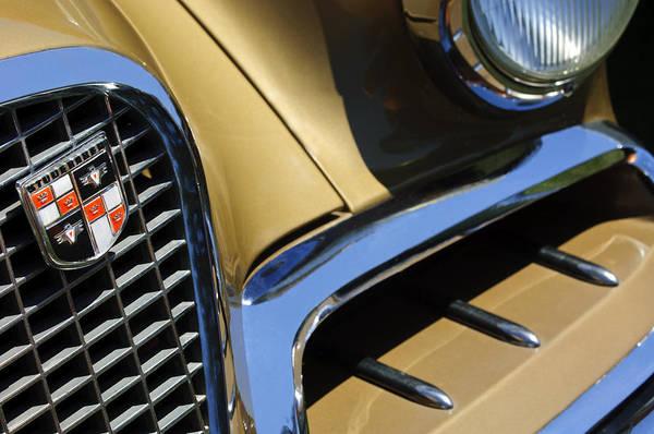 Photograph - 1957 Studebaker Golden Hawk Hardtop Grille Emblem by Jill Reger