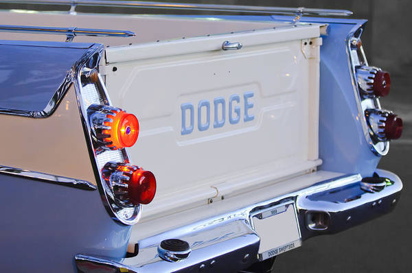 Photograph - 1958 Dodge Sweptside Pickup Taillight by Jill Reger