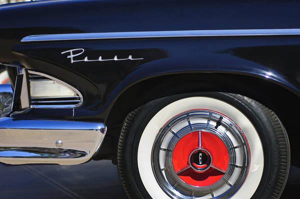 Photograph - 1958 Edsel Pacer Wheel Emblem by Jill Reger