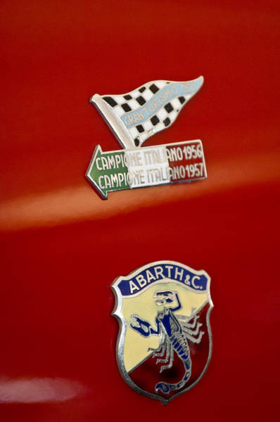 Photograph - 1958 Fiat Abarth 750 Gt Double Bubble Emblem by Jill Reger