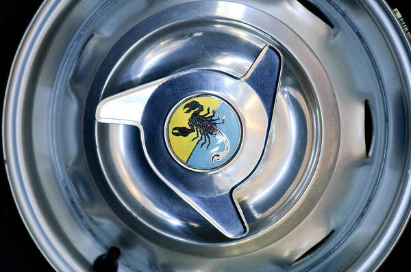 Photograph - 1958 Fiat Abarth 750 Gt Double Bubble Wheel Rim Emblem by Jill Reger