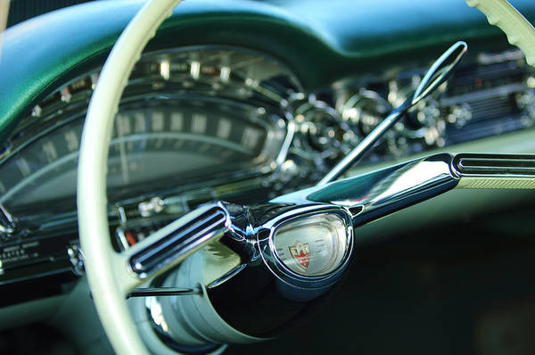 Photograph - 1958 Oldsmobile 98 Steering Wheel by Jill Reger
