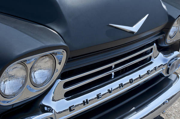 Photograph - 1959 Chevrolet Apache Front End by Jill Reger